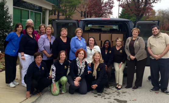 Blue Bell staff sends off van loaded with Sweets for the Soldiers.